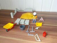 Playmobil - 4138 - Compact set construction , maçons chantier, travaux publics