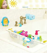 Bath Toy Holder Tidy Storage Extendable Over Bath Shelf Basket Organiser Soap