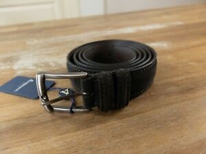 ANDERSON'S brown suede belt - Size 110 (fits size 43-44 waist best) - NWT