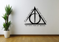 Harry Potter Our Choices Quote Film Wall Art Sticker Decal Home Decor FI25