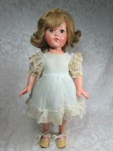 "Vintage Effanbee 18"" LITTLE LADY Composition Doll with Nice Color"