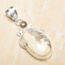 "Sterling Silver Pendant 2"" #P16620 Handmade Natural Ocean Jasper Gemstone 925"