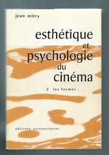 73406 - MITRY Jean; Esthétique et psychologie du cinéma (2 volumes);