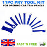 11PCS Car Radio Door Clip Panel Trim Dash Audio Plastic Removal Pry Tool Kit Set