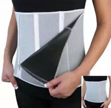 New Grey Sauna Slimming Belt Body Shaper Wrap Zip Weight Loss Fat Burner UK