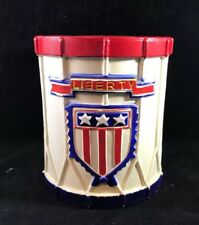 Bicentennial Liberty Drum Coin Money Bank Hard Rubber Vintage 1970s Patriotic