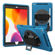 """For iPad 10.2"""" 7th Generation 2019 Rotating Case Cover Built-in Screen Protector"""