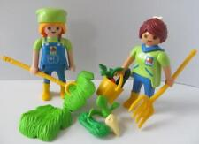 Playmobil lady zoo keeper figures with hay, vegetables & tools NEW