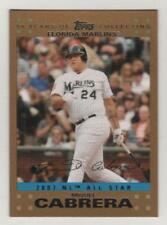 2007 Topps Update Gold #258 Miguel Cabrera Marlins AS BV$6 ####/2007