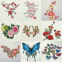 Rose Flower Applique Badge Embroidered Sew on Floral Collar Patch-Dress J9O O3Y0