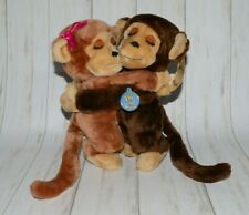 Dakin Hugging Monkeys Plush Animals Vintage