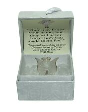 Nurse Daughter Graduation Gift Personalised crystal TEDDY  gilded 22KT gold  #8