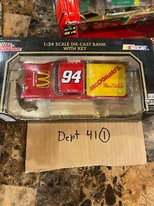 Vtg Racing Champions McDonald's 1957 Ford Ranchero 1:24 Die-cast Bank NASCAR #94