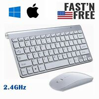 Wireless Keyboard And Mouse Combo Set 2.4GHz For Win 7//8//10 PC Full Size Slim MF