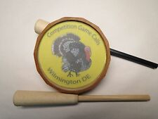 """Turkey Glass Call """" Long Beard"""" w/ Cherry Pot and Hickory & Carbon Strikers"""