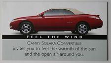 TOYOTA SOLARA Convertible 2000 dealer brochure - English - Canada - ST501000518