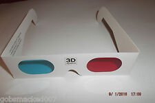 1 Pair of  Red/ Blue Cyan  Anaglyph  3D glasses for 3d DVD / Games