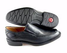 R - Men's ECCO 'Windsor'  Black Leather Loafers Size US 6 EUR 40