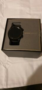 LOVELY CONDITION HUAWEI ANDROID SMART WATCH GT  46MM BLACK STAINLESS STEEL BOXED