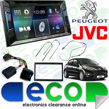 "Peugeot 207 06-12 JVC 6.2"" CD DVD MP3 USB Aux-In Bluetooth DAB Double Din Stereo"