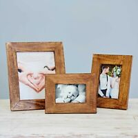 Natural Mango Wood Picture Frame, 6x4, 7x5, 10x8 Inch Photo Frame Handmade Frame