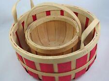 Home Organization Kitchen Dining Multi-Purpose Storage Baskets w/ Handles Set