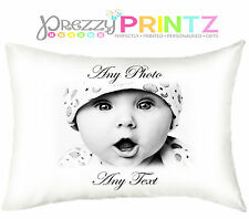 PERSONALISED PILLOWCASE ANY TEXT ANY PHOTO MOTHERS FATHERS DAY KEEPSAKE GIFT