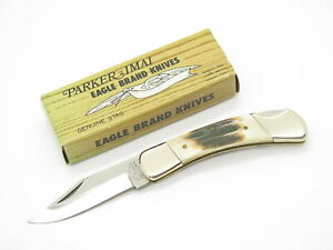 Vtg 1978-82 Parker Brothers Eagle K248 Imai Seki Japan Bone Folding Pocket Knife