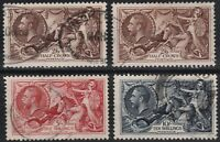 1934 RE ENGRAVED SEAHORSES SG450/452 VERY FINE USED SET INC 2 BROWN SHADES