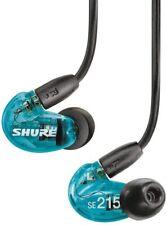 Shure SE215 Blue Earbuds Headphones Earphones Monitor Warranty Free Shipping