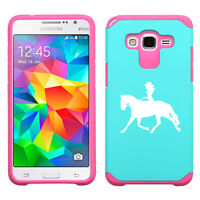 For Samsung Galaxy Core / Grand Prime Shockproof Hard Case Cowgirl Riding Horse