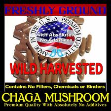 CHAGA MUSHROOM With Absolutely No Additives Wild Harvested 100 Vegetari Capsules