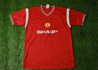 Manchester United 1984 1986 FOOTBALL SOCCER SHIRT JERSEY HOME SCORE DRAW REPLICA
