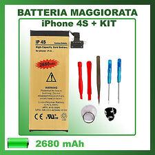 Batteria sostituzione per IPHONE 4S 2680mAh potenziata + Tool Kit - ZERO CICLI