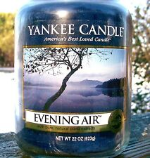 "Yankee Candle ""EVENING AIR"" Fresh Scented Large 22 oz. ~ WHITE LABEL~ NEW!"
