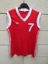 VINTAGE Maillot basket ADIDAS débardeur porté n°7 femme rouge shirt trikot nylon