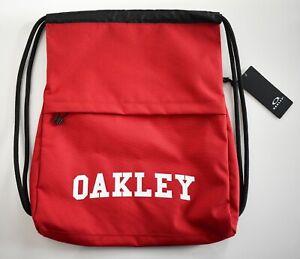 New OAKLEY Black Red COLLEGE SATCHEL Bag Casual Drawstring Backpack