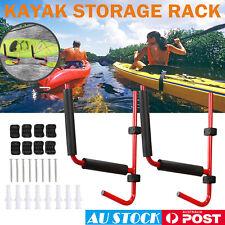 2PCS Kayak Storage Rack Carrier Canoe Paddle Surfboard Holder Wall Bracket 100KG
