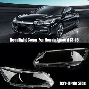 For Honda Accord 2013-2016 Headlight Lens Plastic Lampshade Replacement LH+RH