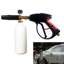 "Spray Pressure Washer Gun 1/4"" Car Wash Soap Snow Foam Lance Cannon Cleaning Kit"
