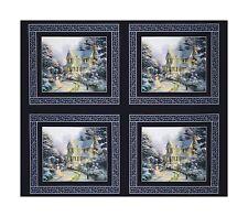 """35"""" Fabric Panel - Benartex Thomas Kinkade Night Before Christmas Pillowcase"""