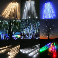 20/30/50cm LED Lights Meteor Shower Rain 8Tube Xmas Tree Outdoor Christmas Decor