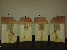 4 Cedar Bluebird Bird Houses Easy to Open and Clean