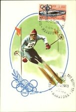 Artist AK XVII. Olympic Games 1960 in Rome, skiing, downhill skiing - 1833257