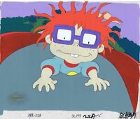 Rugrats Original 1990's Production Cel Animation Art Chuckie
