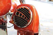 """CHROME-E-O, Chrome Lower Fairing 6.5"""" Speaker Grill Covers for Harley"""