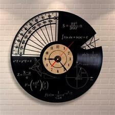 Wall Mounted Clocks Stylish Math Themes Quartz Large Watches For Home Decoration