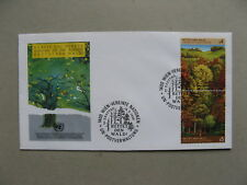 UNO UNITED NATIONS VIENNA, cover FDC 1988 Forest trees, pair