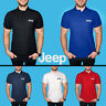 JEEP Polo T Shirt COTTON EMBROIDERED Auto Car Logo Tee Mens Clothing Gift Casual
