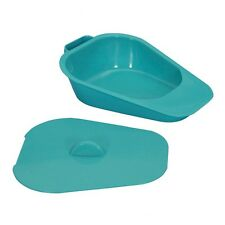 Slipper Urinal - Urinal Pan Plastic with Lid - Green Slipper Pan